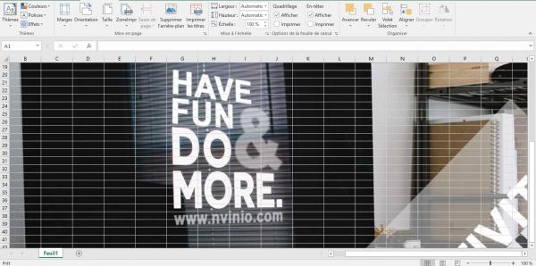 Comment utiliser une image comme fond d'écran dans Microsoft Exce